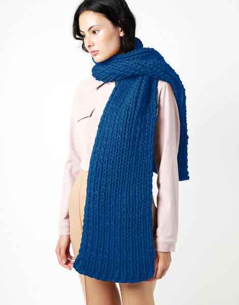 Maxi whistler scarf csw sherpa blue