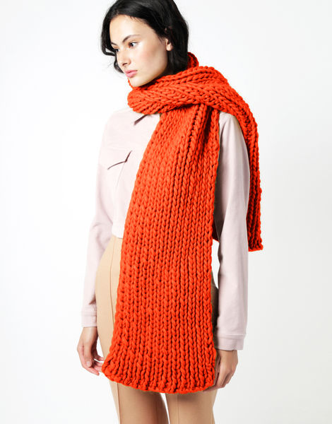 Maxi whistler scarf csw rusty orange