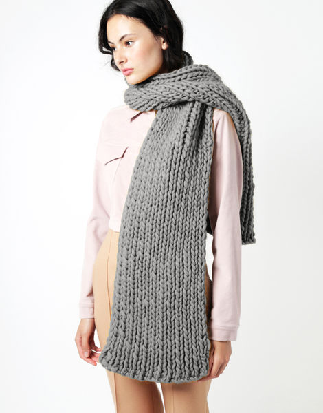 Maxi whistler scarf csw tweed grey