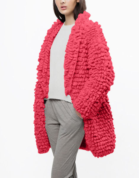 Plush pulp coat csw candy red