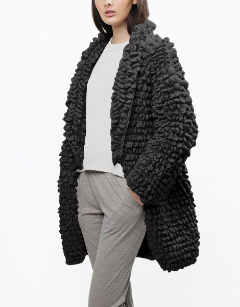 Plush pulp coat csw charcoal