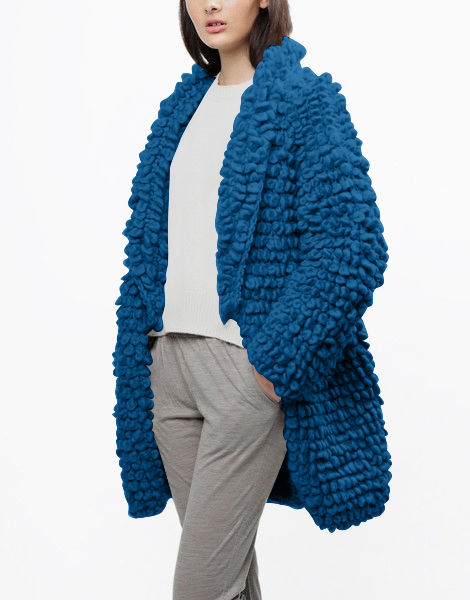 Plush pulp coat csw sherpa blue