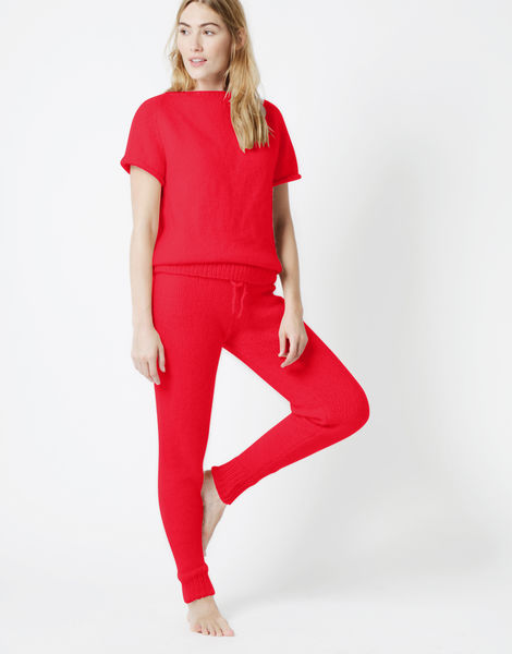 Soul power pants fgy lipstick red