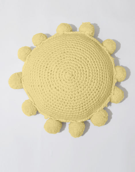 Circle game cushion csw chalk yellow