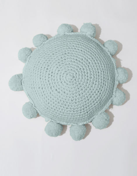 Circle game cushion csw duck egg blue