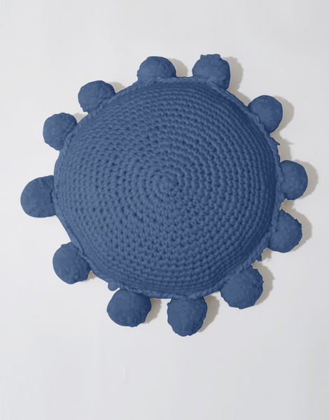 Circle game cushion csw dusty denim