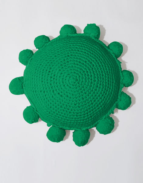 Circle game cushion csw emerald green