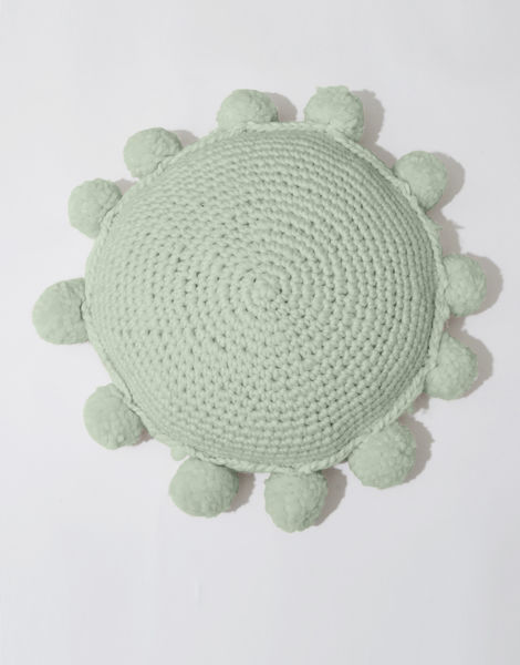 Circle game cushion csw eucalyptus green