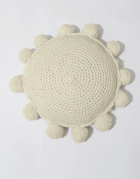 Circle game cushion csw ivory white