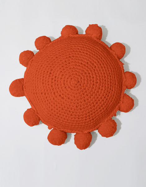 Circle game cushion csw rusty orange