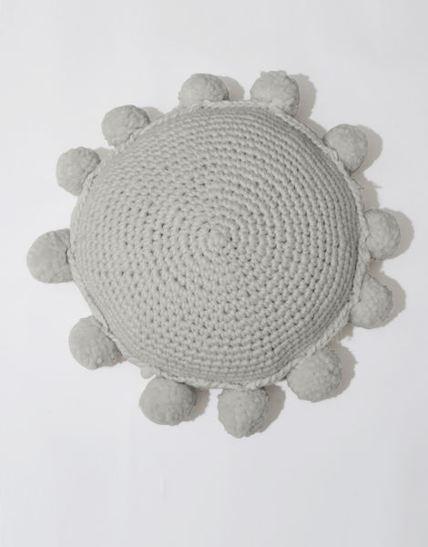 Circle game cushion csw rocky grey