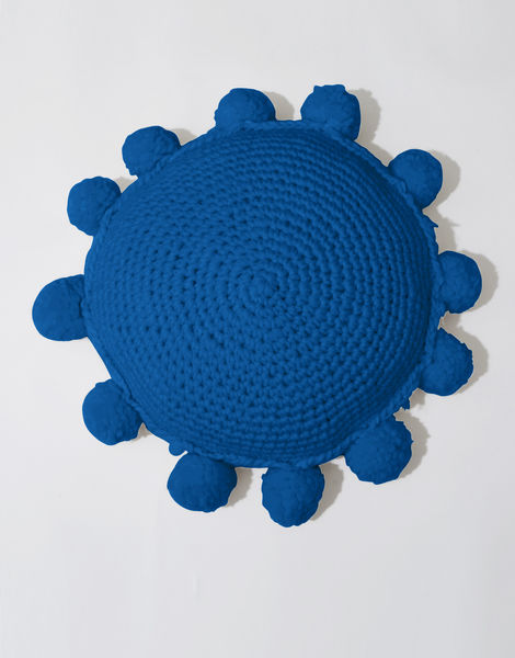 Circle game cushion csw sherpa blue