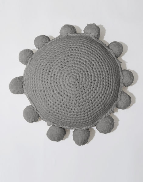 Circle game cushion csw tweed grey