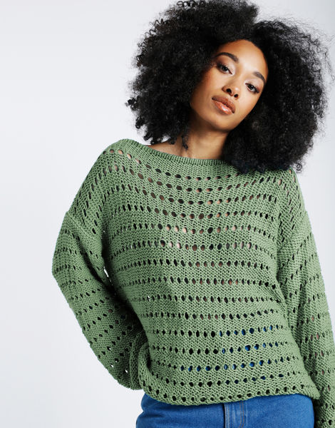 Cosmic sweater shc army green