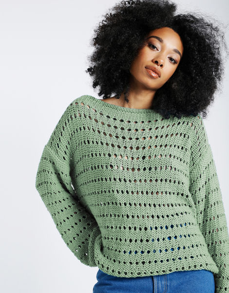 Cosmic sweater shc eucalyptus green