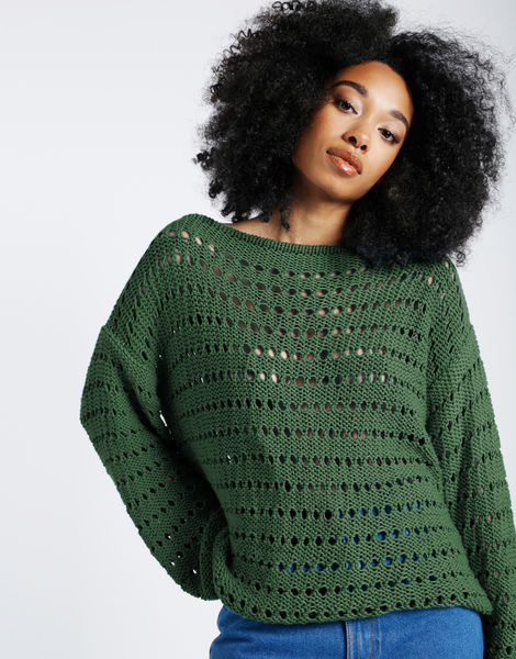 Cosmic sweater shc fern green
