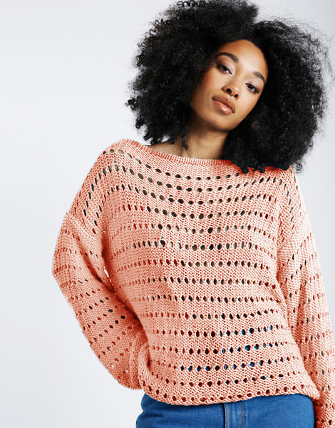 Cosmic sweater shc perfect peach