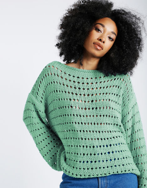 Cosmic sweater shc spearmint green
