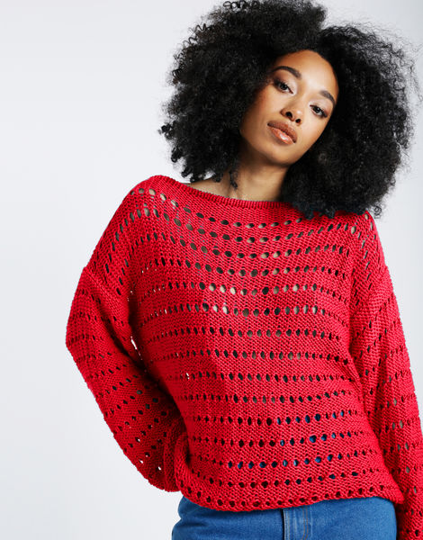 Cosmic sweater shc true blood red
