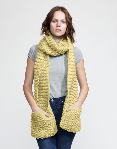 Jolly pocket scarf csw chalk yellow