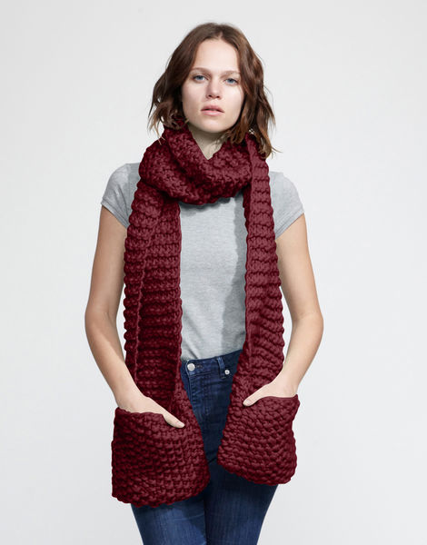 Jolly pocket scarf csw bordeaux