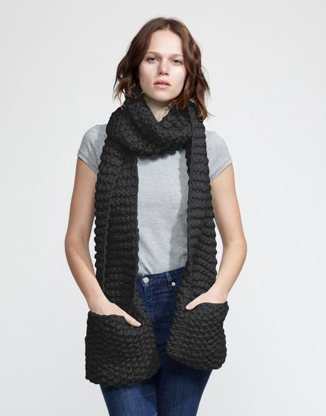 Jolly pocket scarf csw charcoal