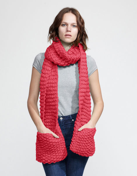 Jolly pocket scarf csw candy red