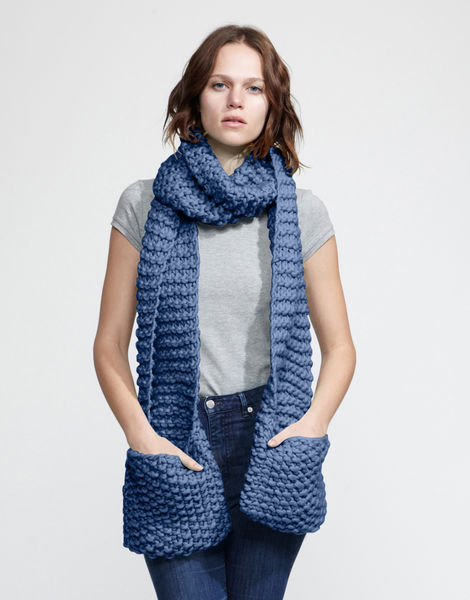 Jolly pocket scarf csw dusty denim