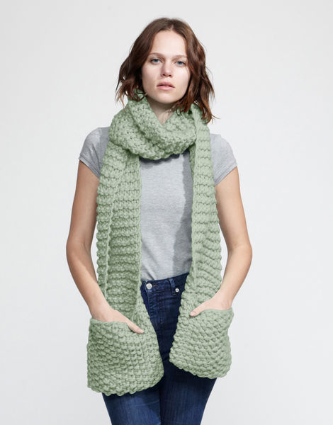 Jolly pocket scarf csw eucalyptus green