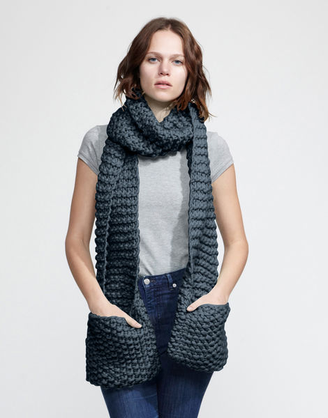 Jolly pocket scarf csw eagle grey