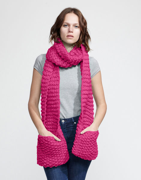 Jolly pocket scarf csw hot punk pink