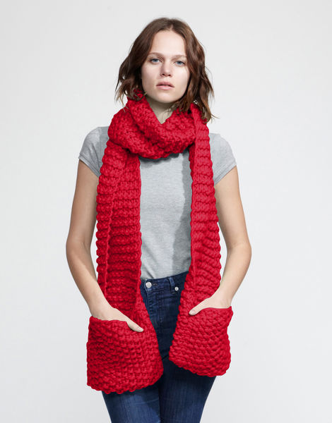 Jolly pocket scarf csw lipstick red