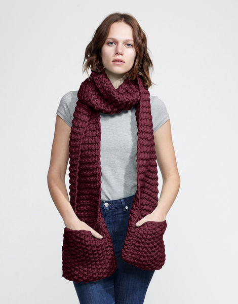 Jolly pocket scarf csw margaux red