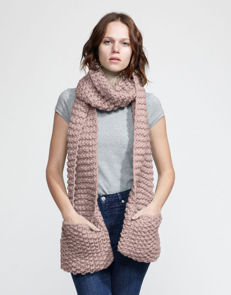 Jolly pocket scarf csw mellow mauve