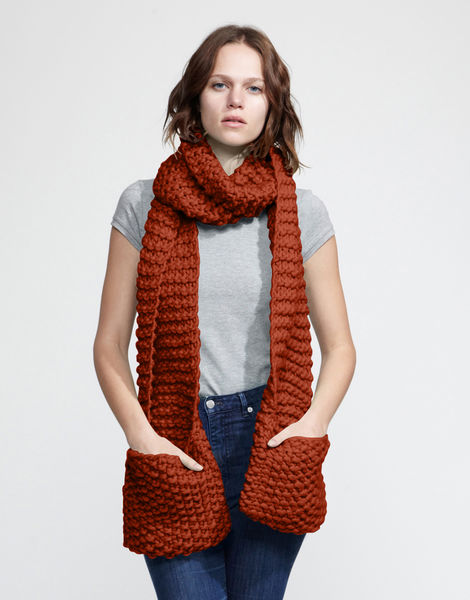 Jolly pocket scarf csw red ochre