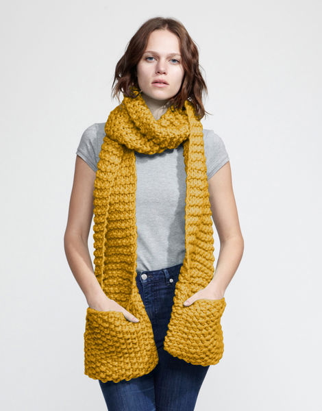 Jolly pocket scarf csw mustard sally
