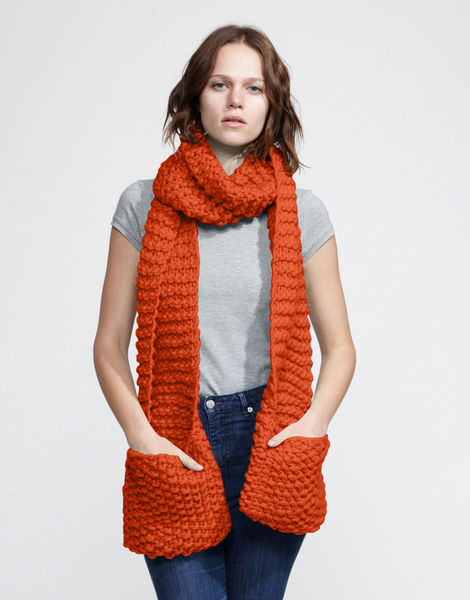 Jolly pocket scarf csw rusty orange