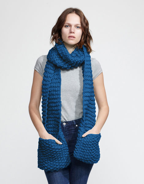 Jolly pocket scarf csw sherpa blue