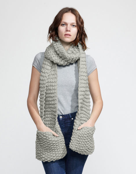 Jolly pocket scarf csw rocky grey