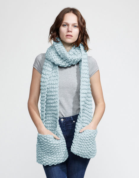 Jolly pocket scarf csw stonewash blue