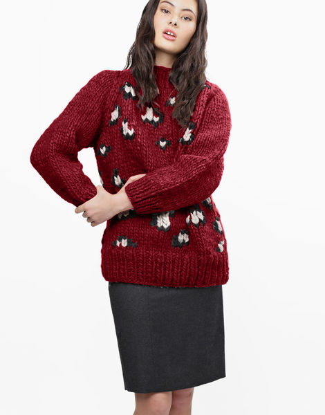 Jungle boogie sweater csw bordeaux