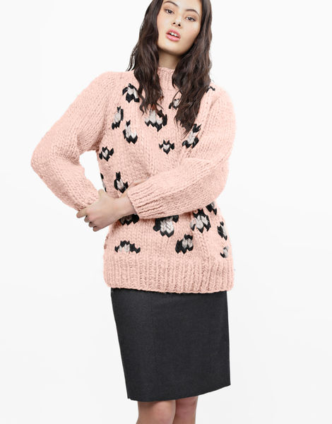 Jungle boogie sweater csw cameo rose
