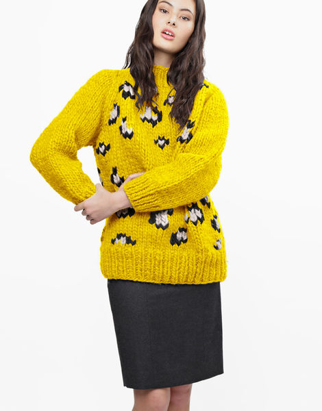 Jungle boogie sweater csw big bird yellow