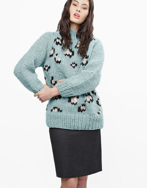 Jungle boogie sweater csw duck egg blue