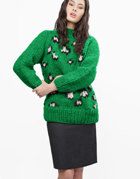 Jungle boogie sweater csw emerald green