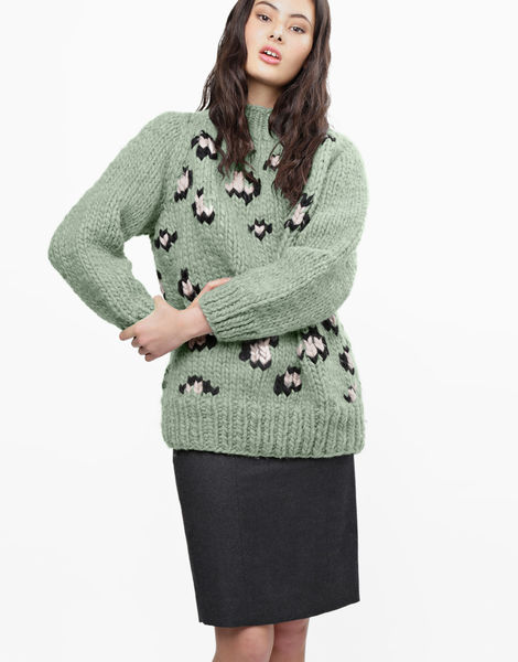 Jungle boogie sweater csw eucalyptus green