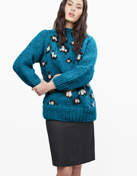 Jungle boogie sweater csw green lagoon