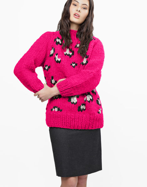 Jungle boogie sweater csw hot punk pink