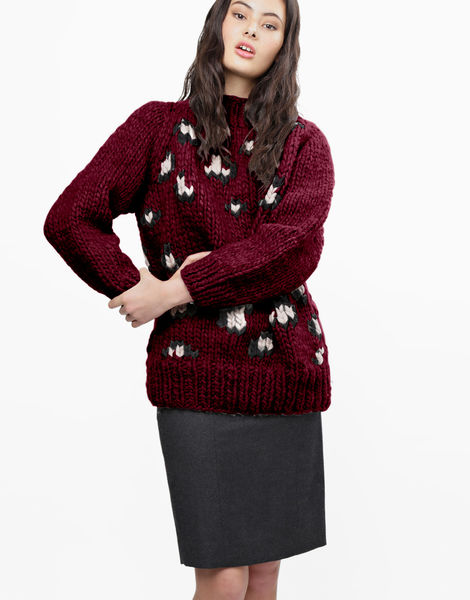 Jungle boogie sweater csw margaux red