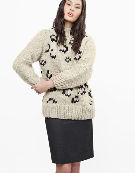 Jungle boogie sweater csw ivory white
